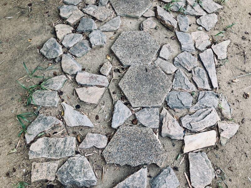 岩石路面的缺点 库存图片
