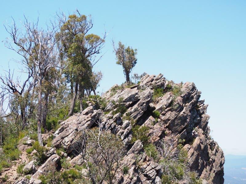 岩石露出 库存照片
