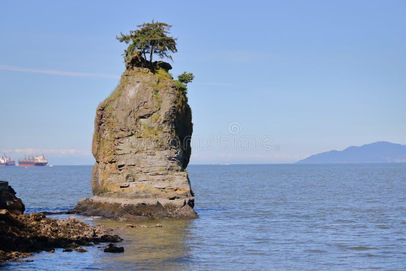 岩石露头和海洋 免版税库存照片