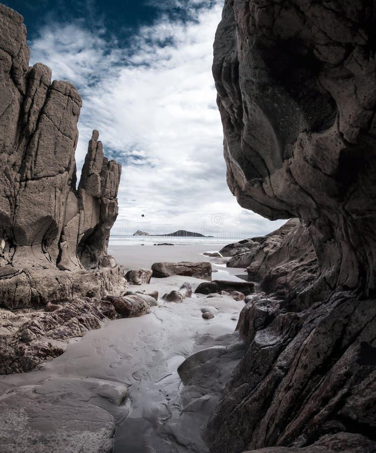 岩石面孔 库存照片
