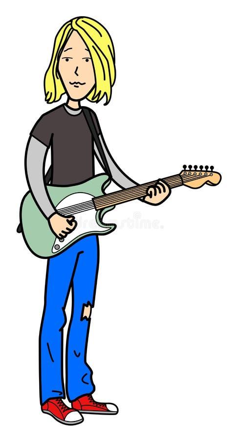 岩石音乐家动画片 向量例证