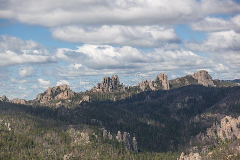 岩石风景在Custer国家公园 免版税库存照片