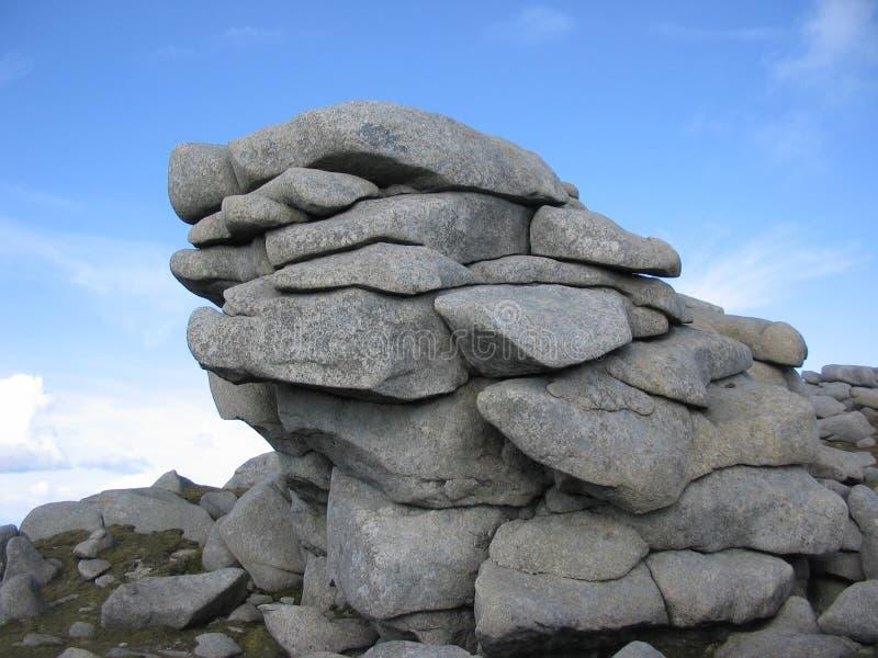 岩石arran的露出 库存图片