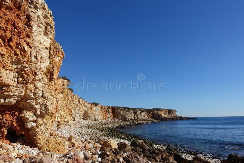 岩石clifftop海岸线 库存照片