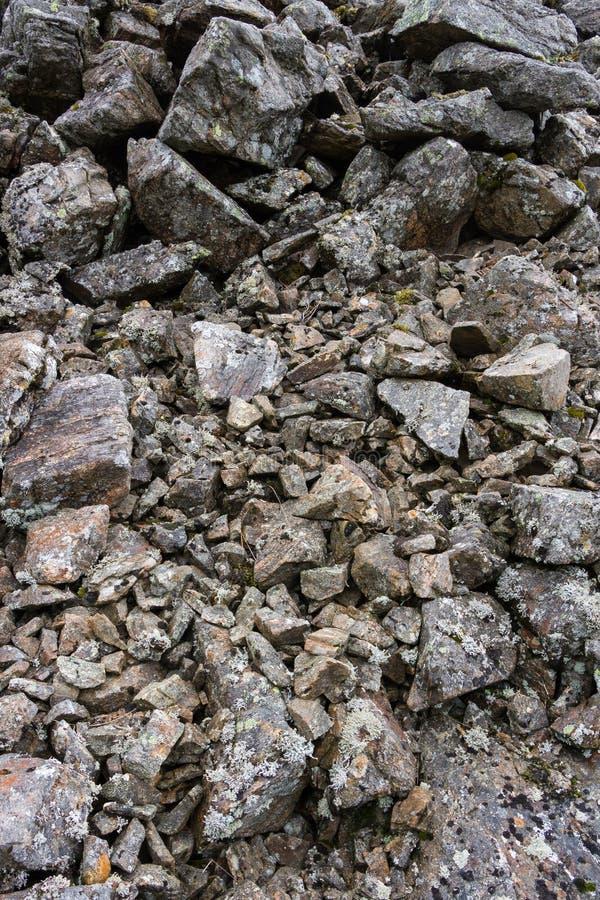 岩石Scree,幽谷Clova,苏格兰特写镜头摘要  免版税库存照片
