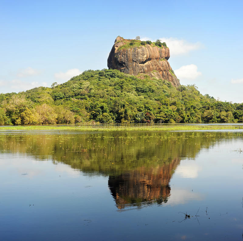 岩石sigiriya 库存图片