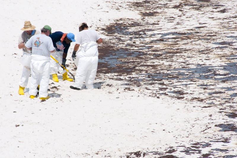 岸上海滩油pensacola洗涤 免版税图库摄影