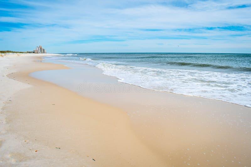 岸的俯视的看法在Perdido关键国家公园,佛罗里达 库存照片