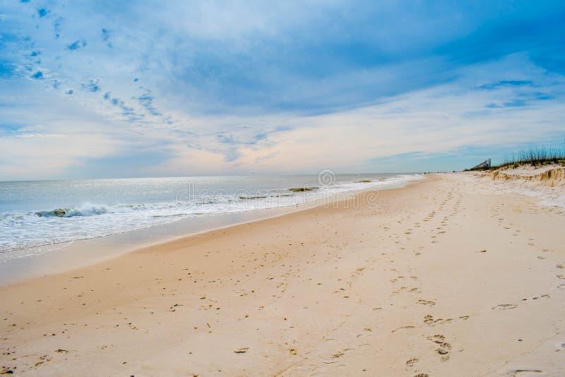 岸的俯视的看法在Perdido关键国家公园,佛罗里达 免版税库存图片