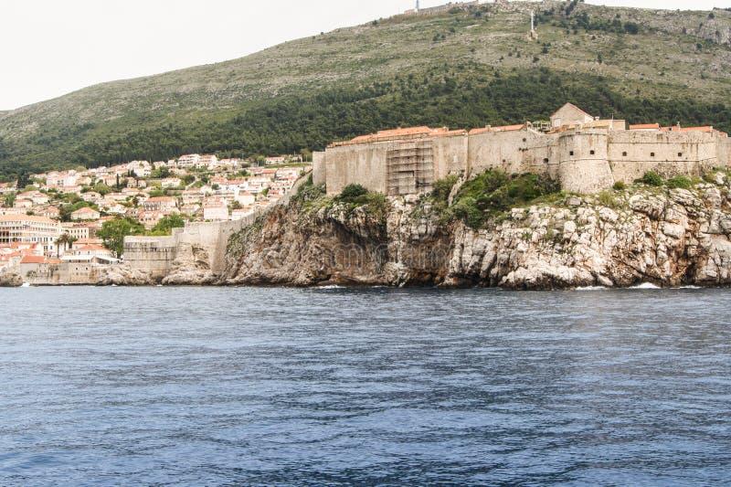 岸的老堡垒 免版税库存图片