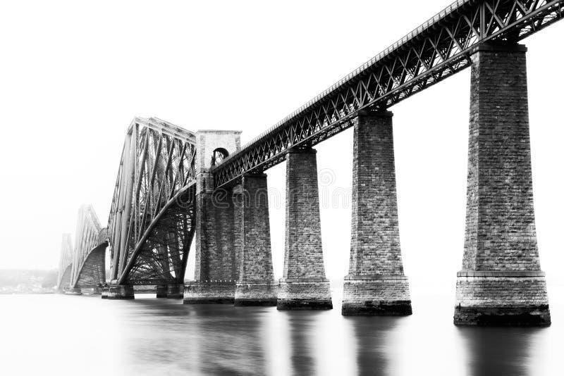 峡湾在南Queensferry,爱丁堡,苏格兰跨接 库存照片