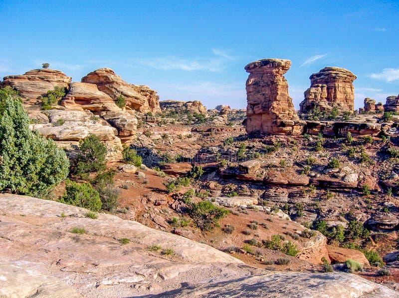峡谷为度假区装边 库存照片