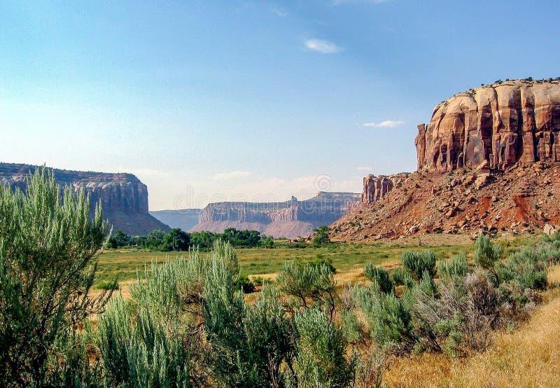 峡谷为度假区装边 免版税库存图片