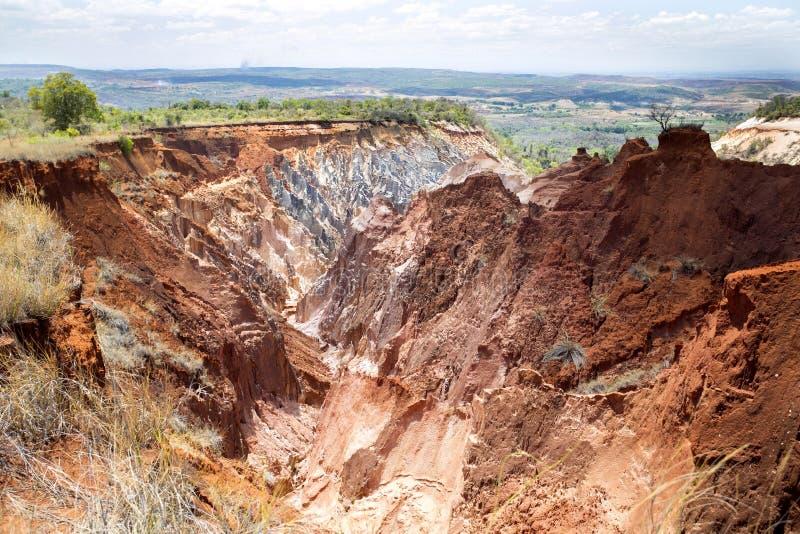 峡谷侵蚀的美丽的景色在储备Tsingy Ankarana,马达加斯加犁, 免版税库存图片