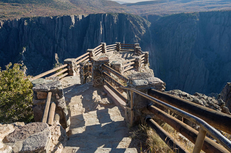 黑峡谷俯视 库存照片