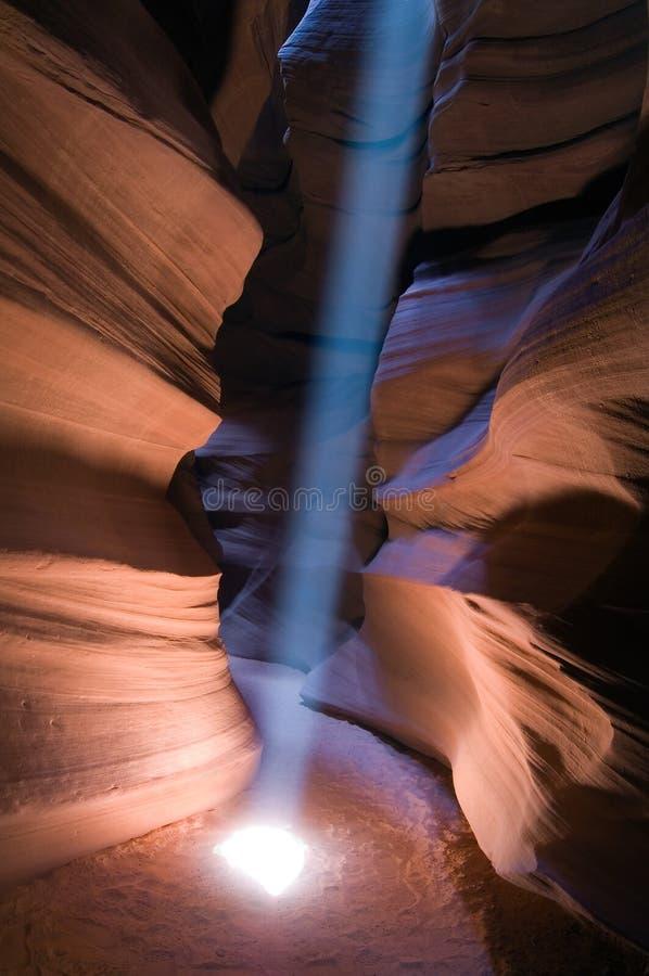 峡谷光束 库存照片