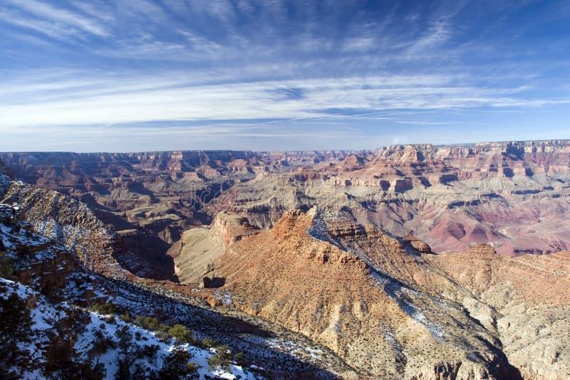 峡谷全部冬天 库存照片