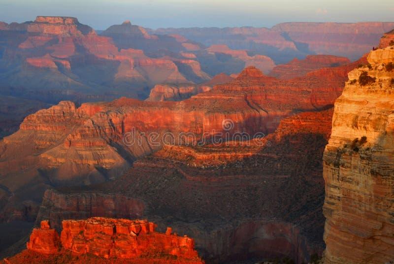 峡谷全部日落 库存图片