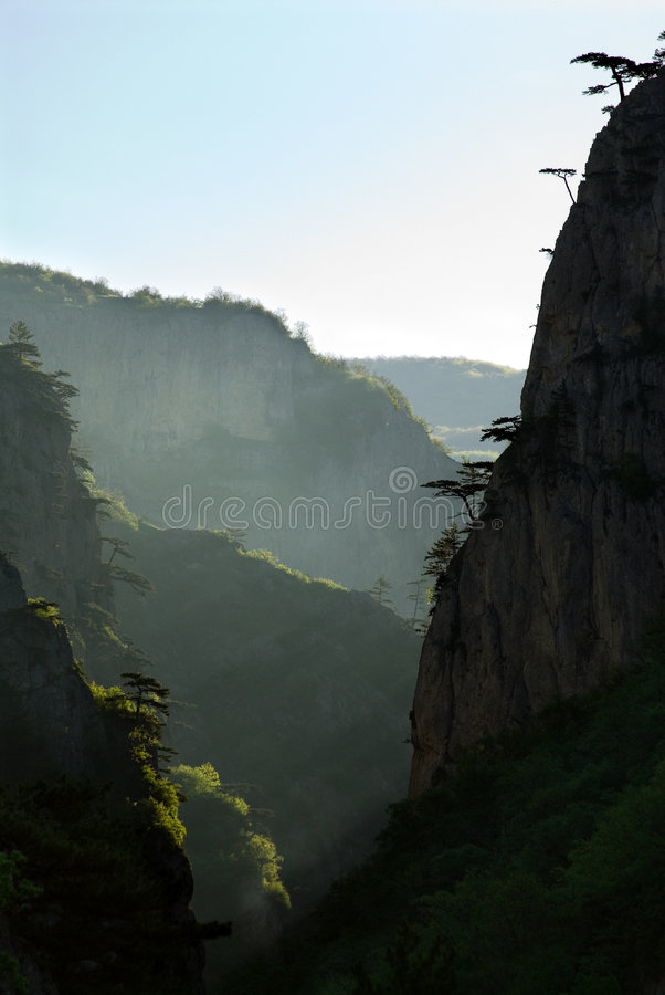 峡谷全部的克里米亚 图库摄影