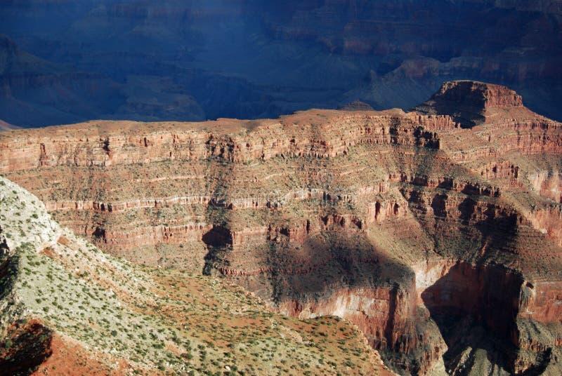 峡谷全部直升机视图 免版税库存照片