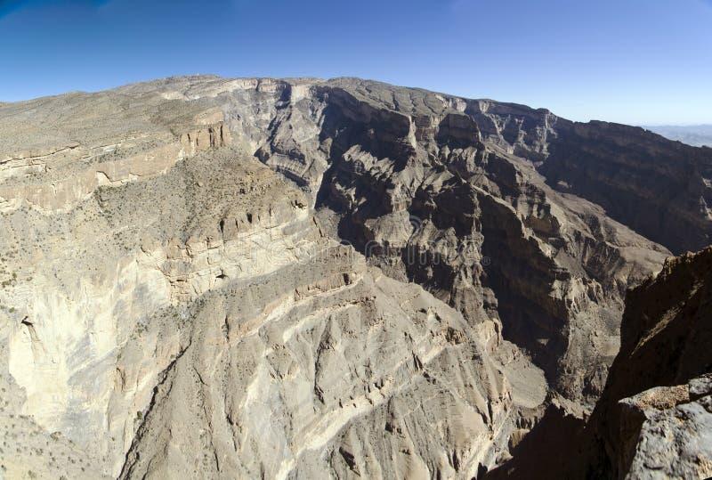 峡谷全部阿曼 免版税库存照片