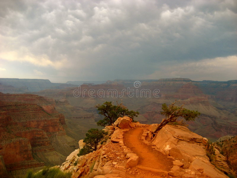 峡谷全部kaibab南线索 库存照片