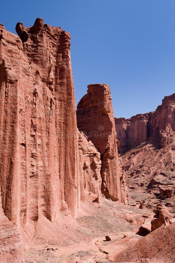 峡谷国家公园红色岩石talampaya 库存照片