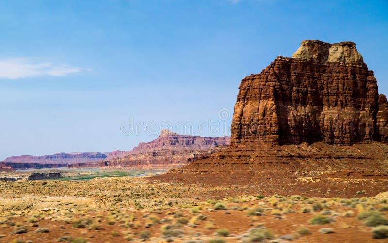 峡谷土地Mesa曲拱国立公园犹他标志 免版税库存图片