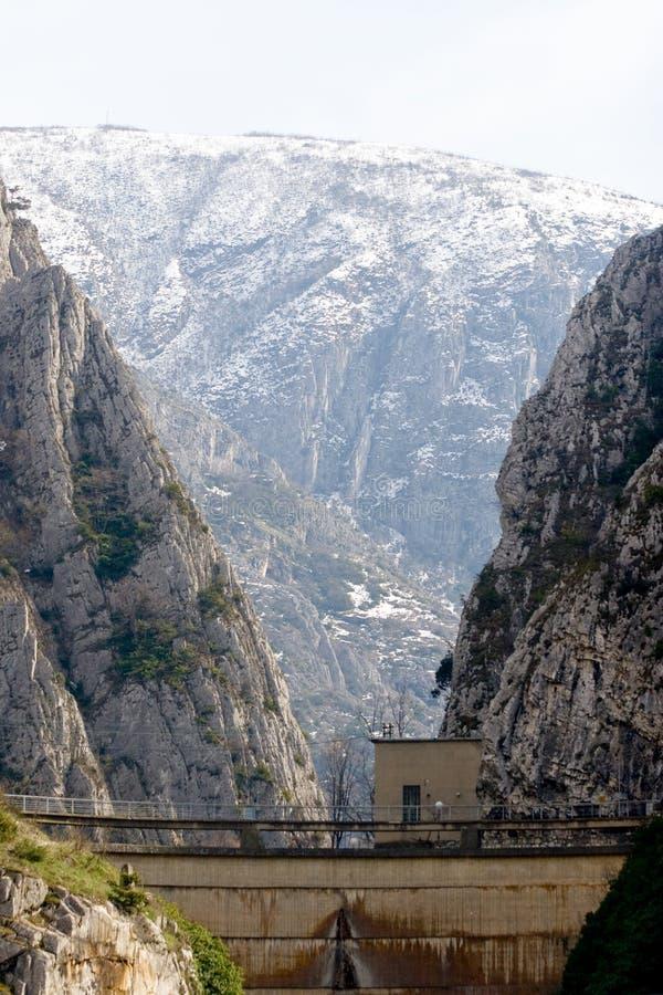 峡谷在斯科普里附近的马其顿matka 免版税图库摄影