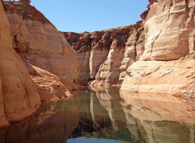 峡谷在湖湖鲍威尔鲍威尔  图库摄影