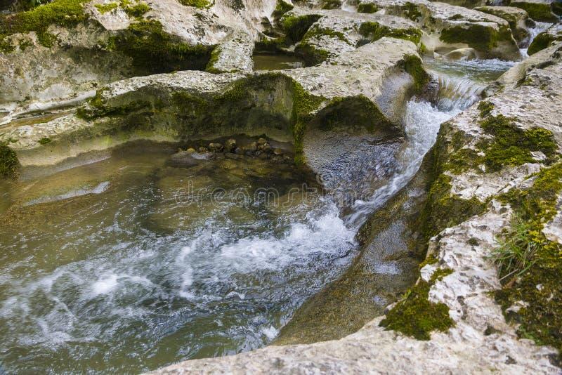 峡谷在阿布哈兹 图库摄影