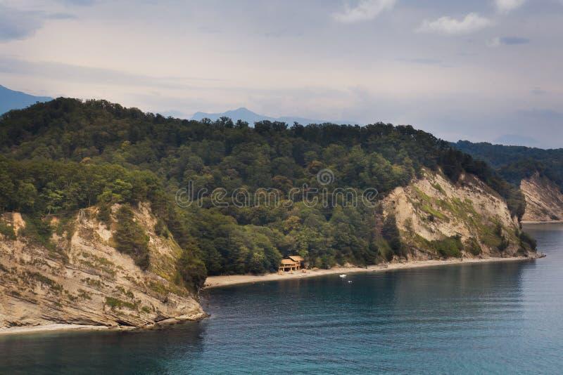 峡谷在黑海 库存照片