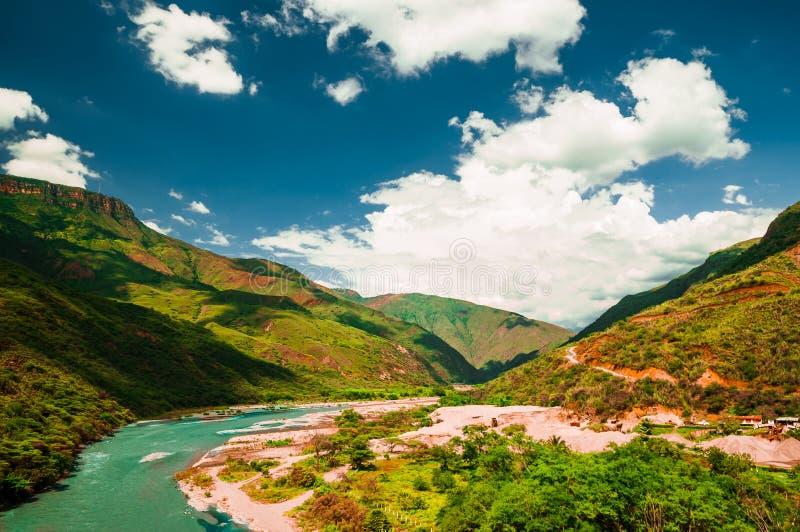 峡谷在Chcamocha国家公园在哥伦比亚 库存图片