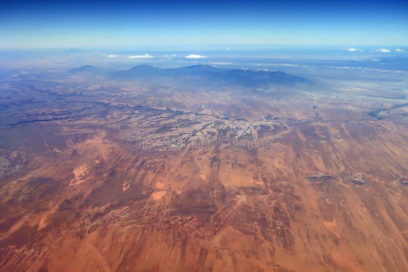 峡谷地国家公园和周边地区,犹他鸟瞰图  库存图片