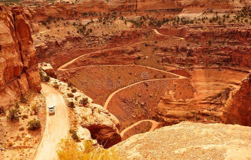 峡谷地国家公园看法  库存图片
