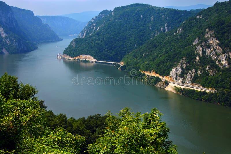 峡谷多瑙河 免版税库存照片