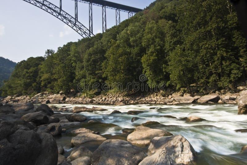峡谷新的河 免版税库存图片
