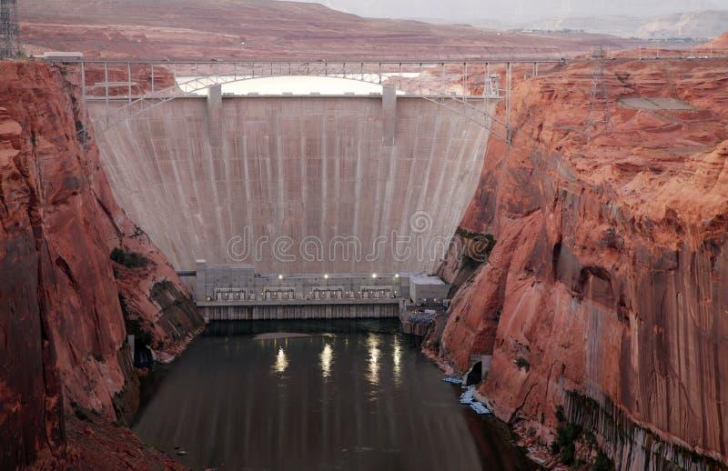 峡谷水坝幽谷 库存照片