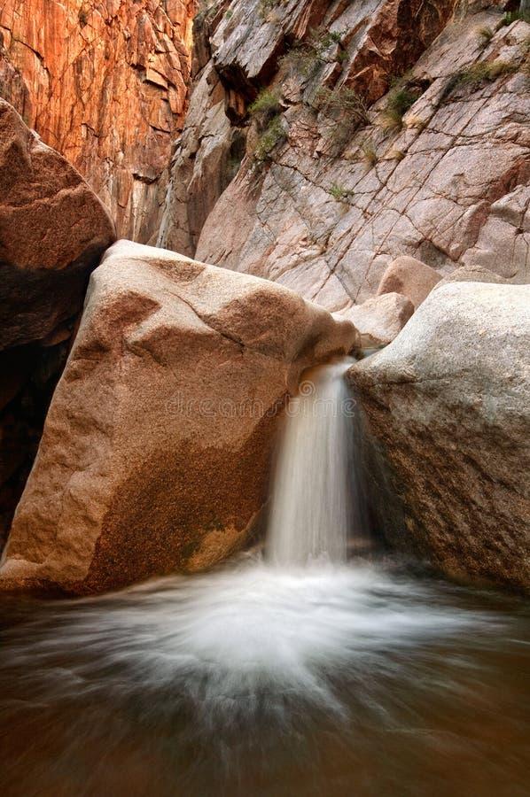 峡谷瀑布 库存照片