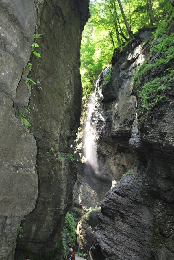 峡谷瀑布 库存图片