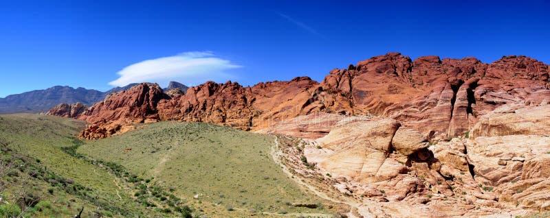 峡谷红色岩石 库存照片