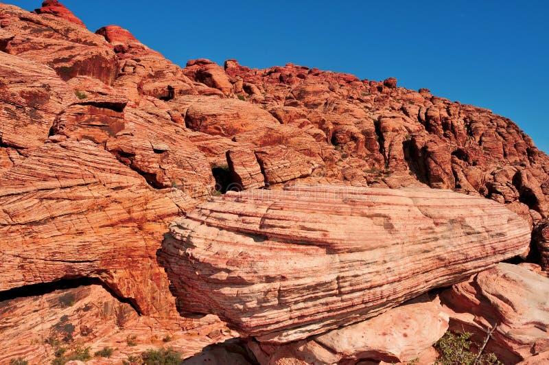 峡谷红色岩石 图库摄影
