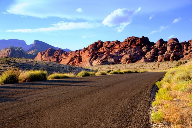 峡谷红色路岩石 库存照片