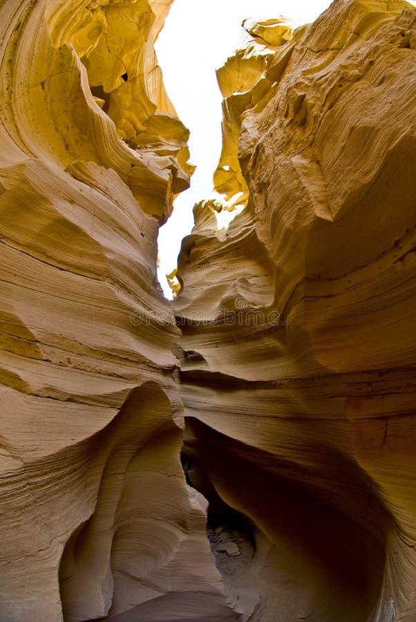 峡谷缩小的沙子 库存照片