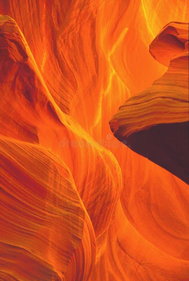 峡谷美妙的轻的槽 免版税库存照片
