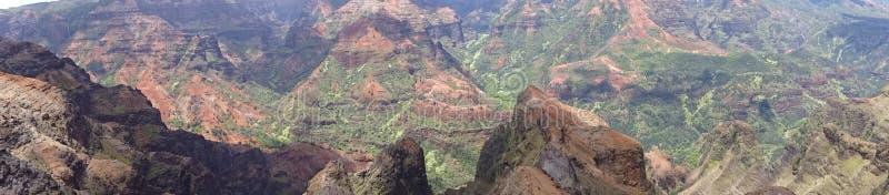 峡谷考艾岛waimea 库存照片