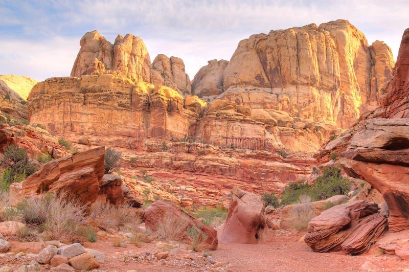 峡谷被腐蚀的墙壁 免版税图库摄影