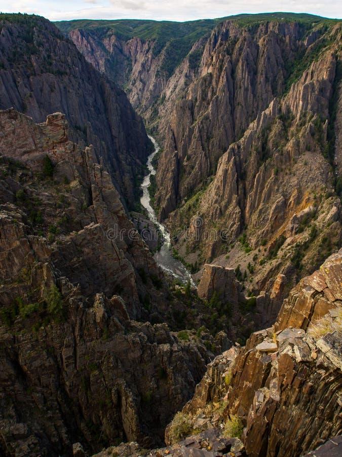 峡谷视图, Gunnison的黑峡谷,科罗拉多 免版税图库摄影