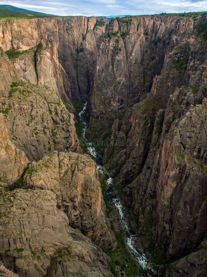 峡谷视图, Gunnison的黑峡谷,科罗拉多 库存照片