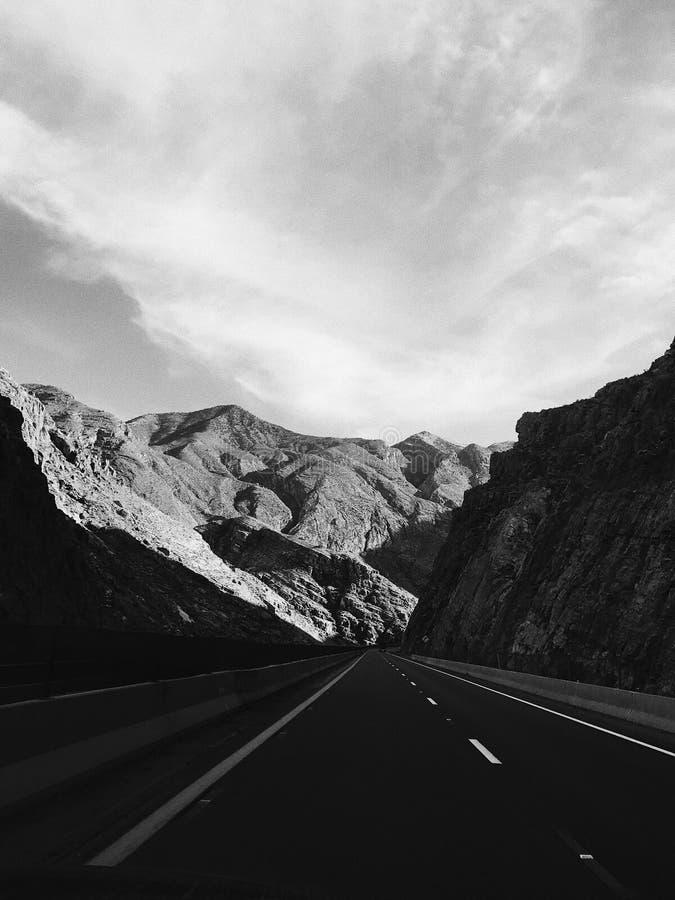 峡谷驱动 库存图片